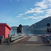 the pink ferry dock - forsand